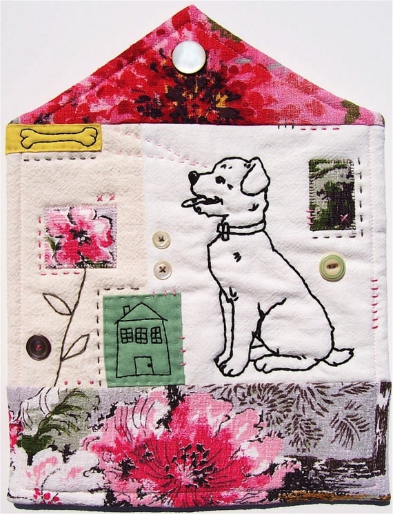 Necessary Comforts Mini Embroidered Art Quilt