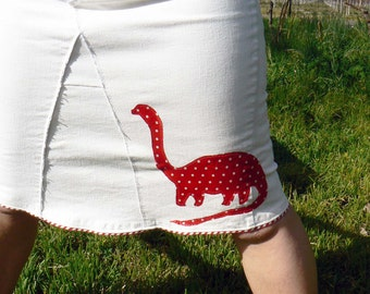 Dino and Pebbles Reconstructed  Dinosaur Skirt