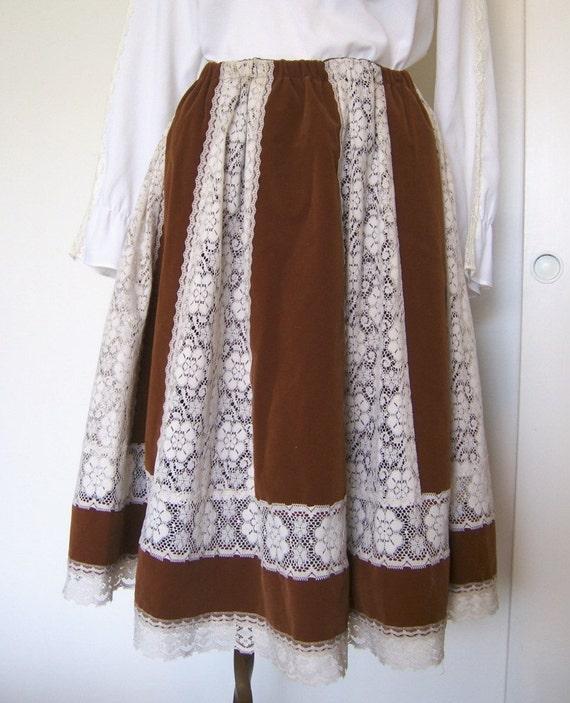 Velvet Caramel skirt