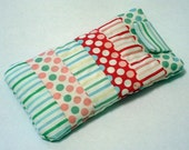 Quilted Patchwork Eyeglass\/Sunglass Case - Moda Dots and Stripes