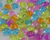 SALE Faceted Acrylic Rondelle Beads 8x5mm 50 Pieces (AB44)
