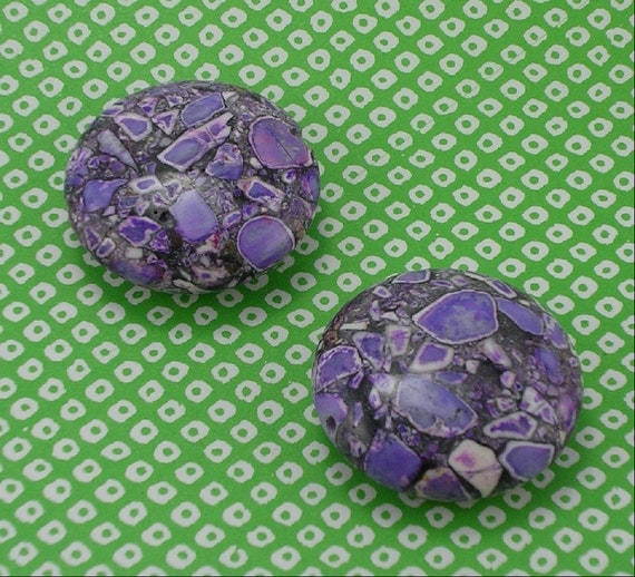 SALE Purple Magnesite Puffed Coin 30mm