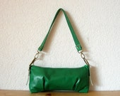 Geneva Leather Bag in Gorgeous Green Italian Leather - Christmas in July SALE