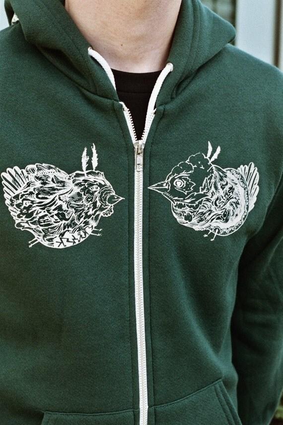 SALE--TLE Rose City Birds Hoodie-- XL