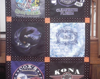 Harley Davidson T-Shirt/memory quilt or wall hangings