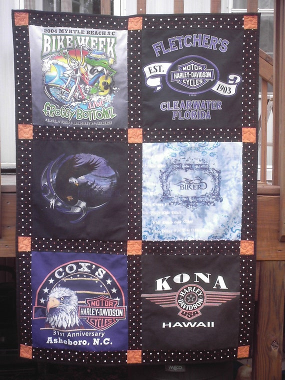 Items Similar To Harley Davidson T Shirt Memory Quilt Or