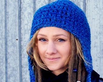 The Tracker Hat in Deep End Blue - Hiking Hat, Soft Hat, Aviator Hat
