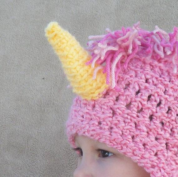 2T to 4T Unicorn Hat in Bubblegum Pink