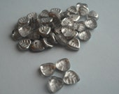 silver leaf glass beads - 40ish