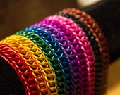 Bracelet your color choice Anodized Aluminum, Hypoallergenic metal chainmaille chain maille chainmail