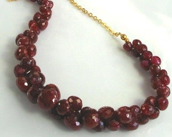 Duality...Understated Excess 180 ctw Ruby focal necklace...