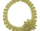 Green Felt Necklace.