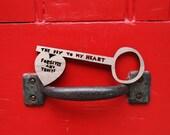 The Key To My Heart Forgives...... Walnut Lasercut Key