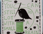 You Can Still Do A Lot With A Small Brain Handprinted Tile