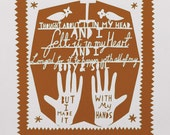 I Made it With My Hands Screen Print Brown