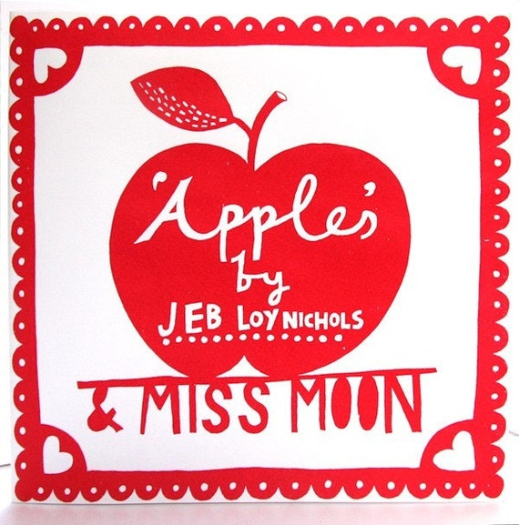 Apples and Miss Moon 7 Inch Vinyl Record