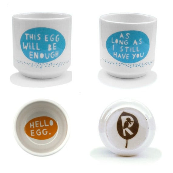 This egg will be enough.... Egg cup in Light Blue
