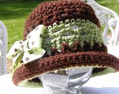 Crochet Hat Pattern Easter Fashion Rolled Brim Toddler Childs thru Adult Digital File Download PDF No.23
