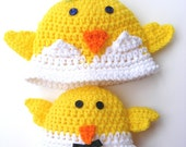 Crochet Patterns Chicken Hat Beanie and Easy Bustin' Out or Tuxedo Chickie No.30