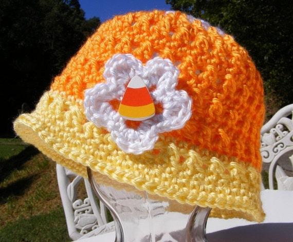 Crochet Candy Corn Hat Pattern Newborn To Adult Small Pdf Easy