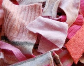Felted Wool Scraps - Pink