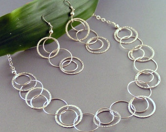 Concentric Circles - Sterling Silver Set