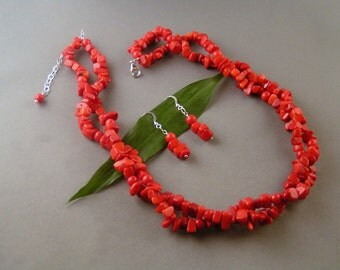 Double-Stranded Red Coral Chips Set