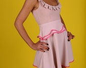Pretty in Pink Dress with Hot Pink Lace SALE