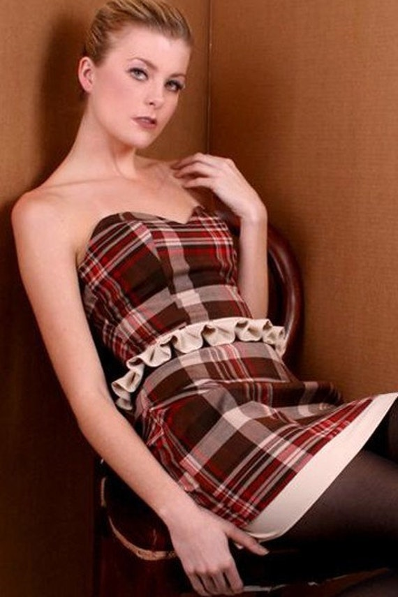 Mad for Plaid Coctail Dress RESERVED for Tnaaa  Exchange