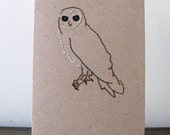 Barn Owl  Stitched Card