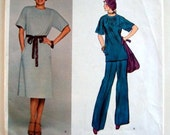 Vintage Vogue American Designer Sewing Pattern Jerry Silverman 70s 80s Tunic Pants and Dress 32 or 33 Bust