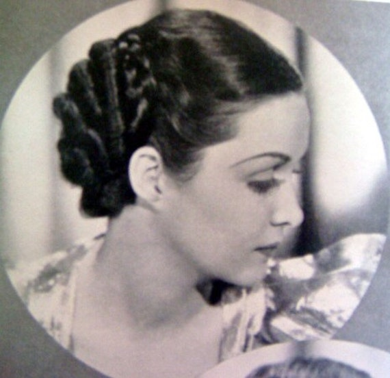 Vintage 1930s Hairstyles Hair Style Magazine Hollywood Hairdos