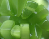 Mint Green Cats Eye Glass Chip Beads - Sale Price