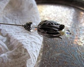Victorian Snow Queen Hatpin of Pearl and Silver