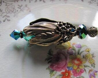 Emerald Green Jewels Victorian Hatpin