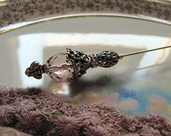 Blushing Bride Victorian Hatpin