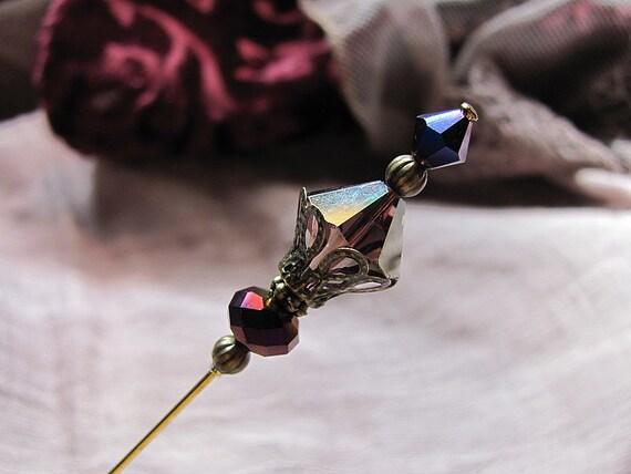 Amethyst Mad Hatter II Victorian Hat Pin