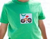 boys t-shirt- shirt- baby shirt- bike shirt- green shirt-boys outfit- st. patrick day- baby gift-kids birthday-cycle shirt- t-shirt- shirt