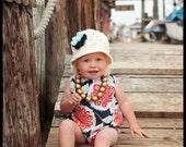 baby romper- romper-  Baby Bubble Romper- Summer Romper - Sunsuit-Romper - navy floral- toddler romper- girl birthday outfit- Boho Romper