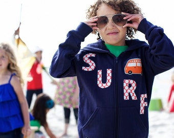 Baby Embellished Hoodie- Surf by Kait Emerson 3-6m