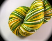 GREEN BAY PACKERS - OAKLAND ATHLETICS - Sports Fan - Football - Stitch n Pitch Baseball - Two-ply Twisty Toes Sock Dyed to Order - Superwash Merino Wool - Yarn Lust Threads