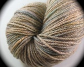GOLD - All that Glitters Sock - REAL Silver, Superwash Merino Wool, Silk - Dyed to Order - Yarn Lust Threads