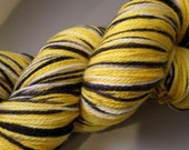 PITTSBURGH STEELERS - PIRATES - Sports Fan - Football - Stitch n Pitch Baseball - Two-ply Twisty Toes Sock - Dyed to Order - Superwash Merino Wool - Yarn Lust Threads