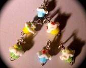 Yummy yummy CUPCAKES Stitchmarkers - Yarn Lust Trinkets
