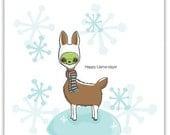 Happy Llama Holiday Card