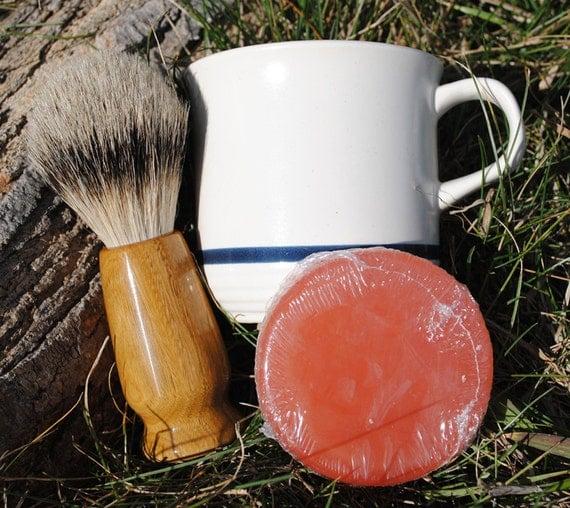 Shave Brush - Lignum Vitae Silvertip Badger Hair Shave Set