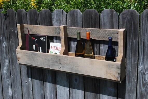 Pallet Wine Rack or Book Shelf from OAK Pallet Wood