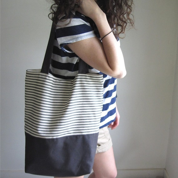 Striped Day Bag