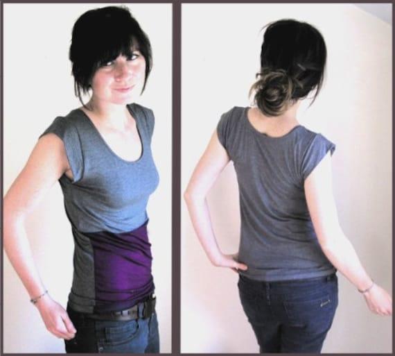 Purple Charcoal Color Block - Grey Back