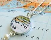 New York - Sterling Keepsake Map Necklace